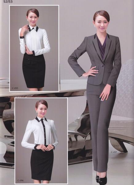 女款灰色职业套装