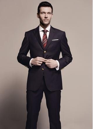 男款高端修身西装